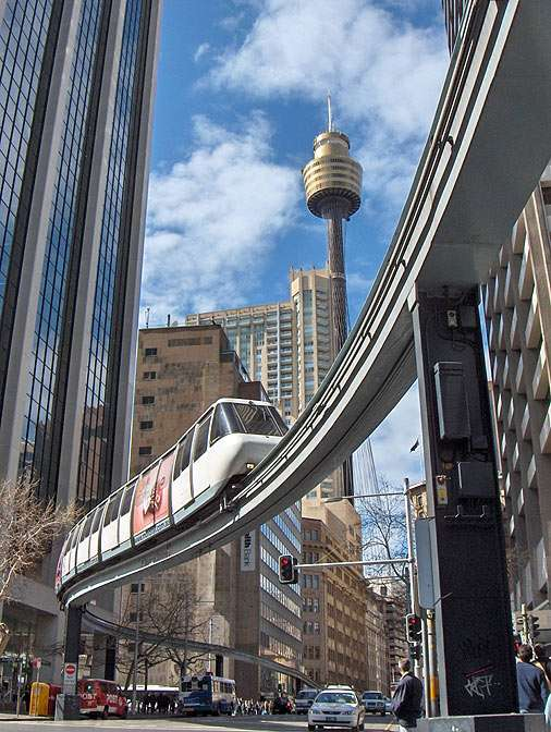Sydney Monorail - Metro Monorail operates in the centre of Sydney/Australia (11×14)