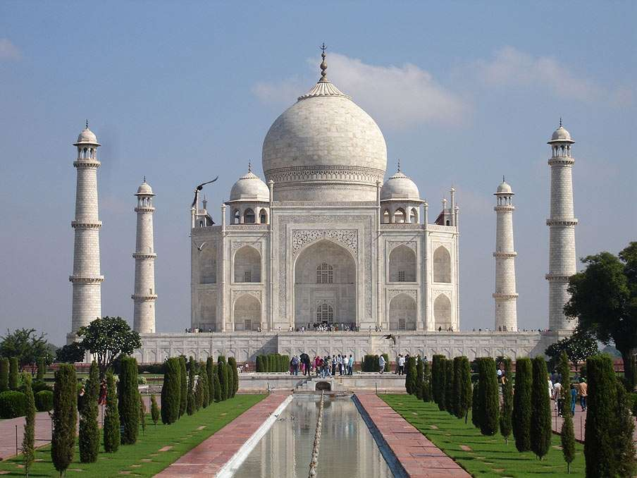 Taj Mahal - Mausoleum located in Agra, India. Construction was completed in 1648 (8×6)