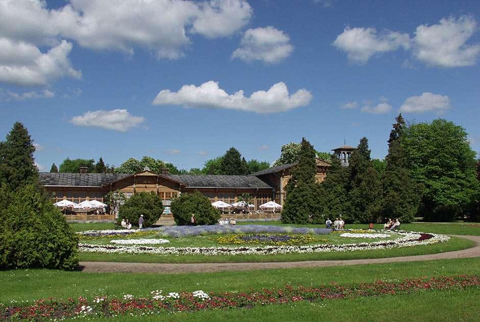 Park Zdrojowy in Ciechocinek - Ciechocinek is well known spa town in Poland (10×6)