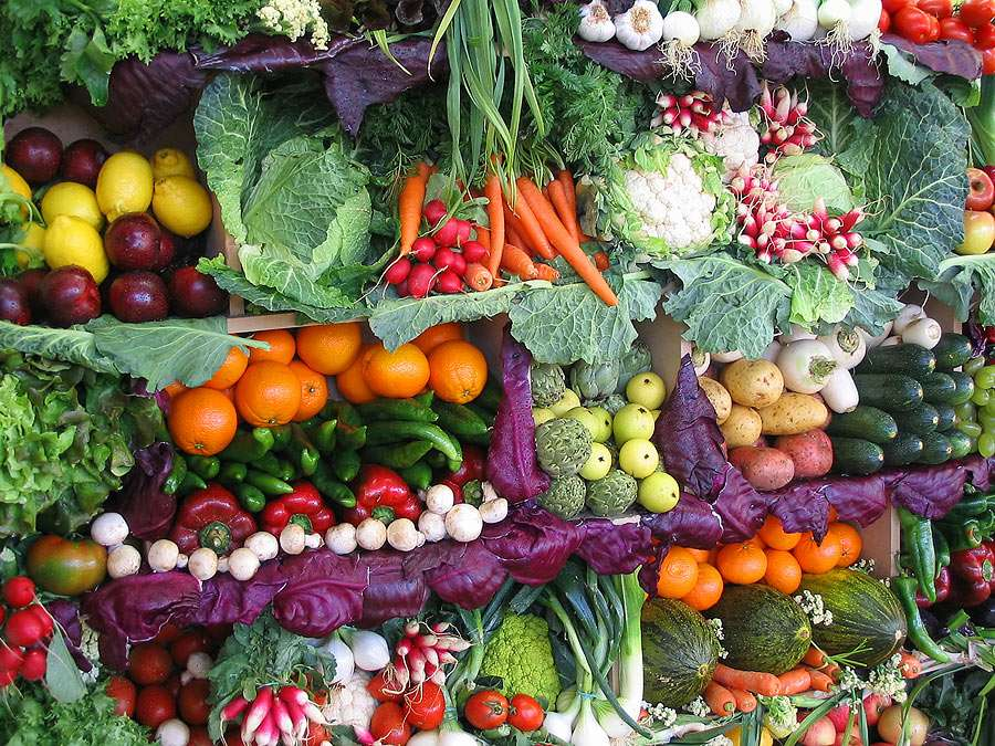 Puesto de verduras - Alimentos orgánicos directamente de la granja a su familia (20×15)