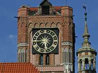 A régi városháza tornya Torunban (Lengyelország)