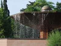 Svamp fontän i Ciechocinek (Polen)
