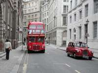 Bus und Taxi in London (England)