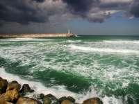 Mediterranean Sea at winter