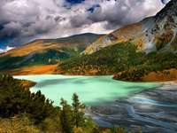 Akkem Lake in Altay Mountains (Russia)