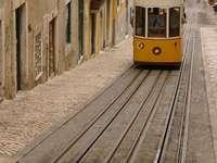 Funicular in Lisbon (Portugal)