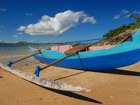 Pirogue on the beach (Madagascar)