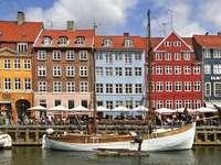 Nyhavn in Copenhagen (Denmark)