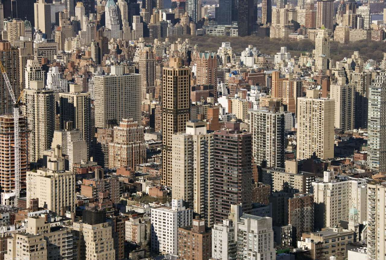Buildings in New York City (USA) - The City of New York is the most populous city in the United States and one of the largest urban areas in the world. The city is located in the Northeastern United States. New York is one of the world (14×9)