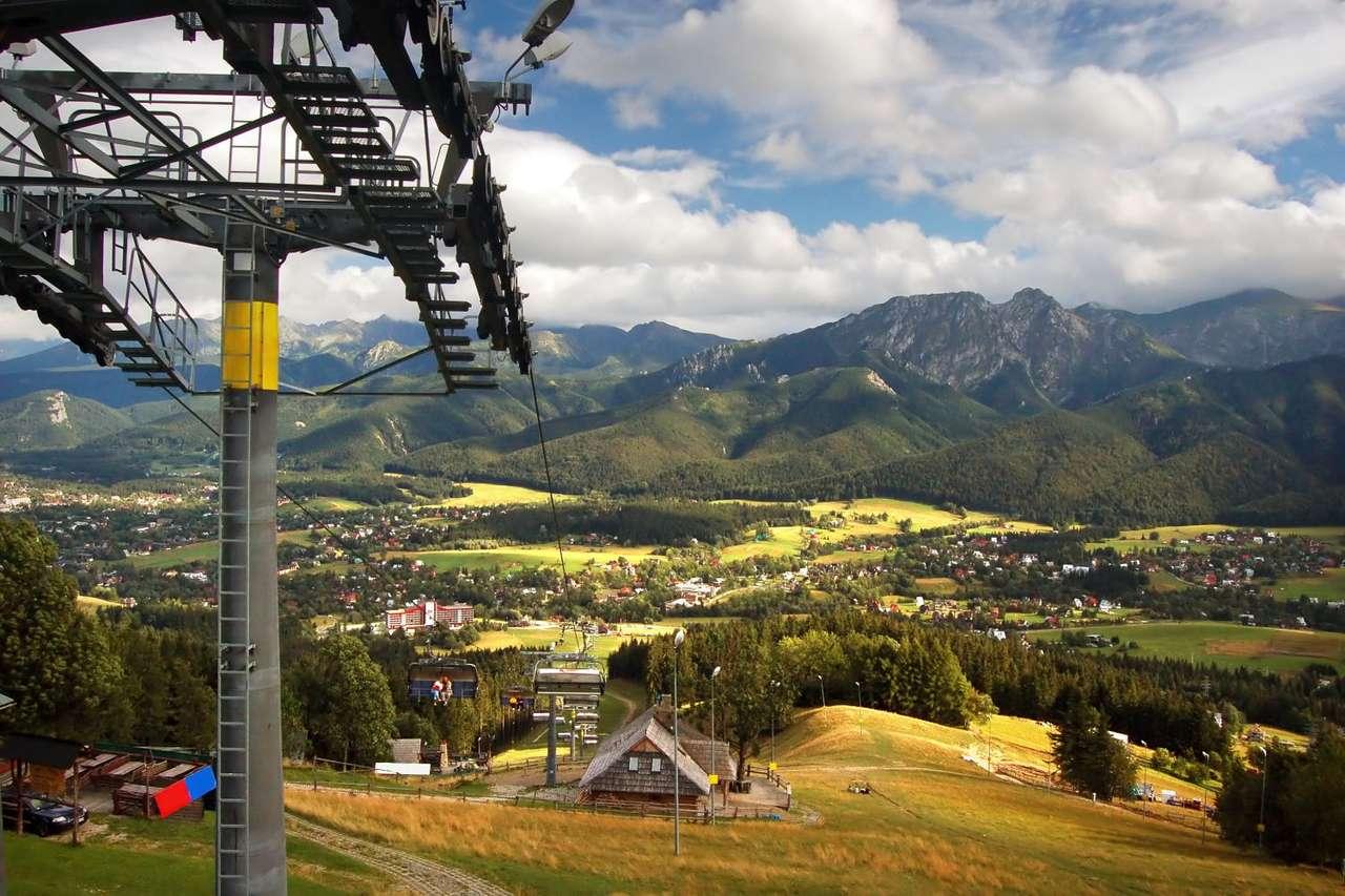 "Ski Lift in Zakopane (Poland) - View from ski lift ""Poland Szymoszkowa"" in Zakopane. Zakopane is a town in southern part of Poland. It lies in the southern part of the Podhale region at the foot of the Tatra Mountains. Zakopane is p (15×10)"