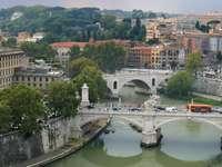 The Tiber in Rome (Italy)