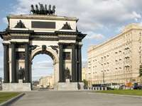 Triumphal arch in Moscow (Russia)