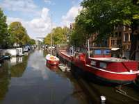 Canal in Amsterdam (Netherlands)