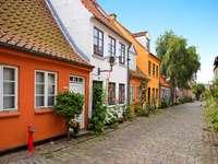 Old houses in Aarhus (Denmark)
