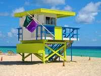 Badmeester toren in Miami Beach (VS)