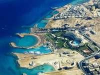 Küste des Roten Meeres in Hurghada (Ägypten)