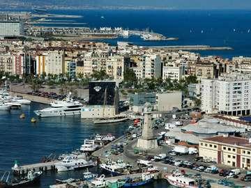 Port Vell in Barcelona (Spain)