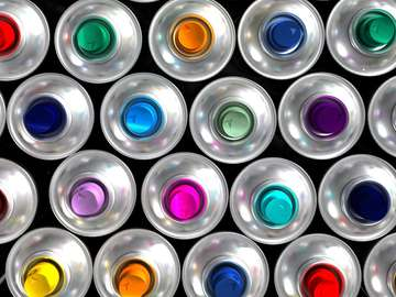 Cans with paint
