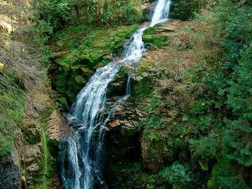 Kamienczyk Waterfall (Poland)
