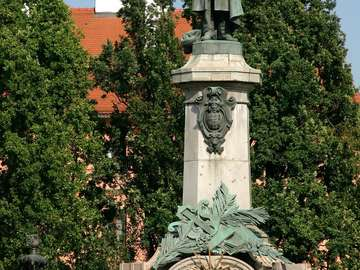 Monument of Mickiewicz in Warsaw (Poland)