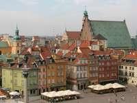 Castle Square in Warsaw (Poland)