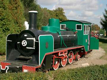 Narrow-gauge steam engine