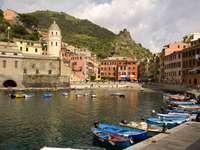 Harbor in Vernazza (Italy)