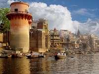 The Ganges river in Varanasi (India)