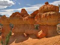 Sandstone formations in Red Canyon (USA)
