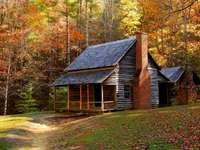 Stuga i Smoky Mountains (USA)