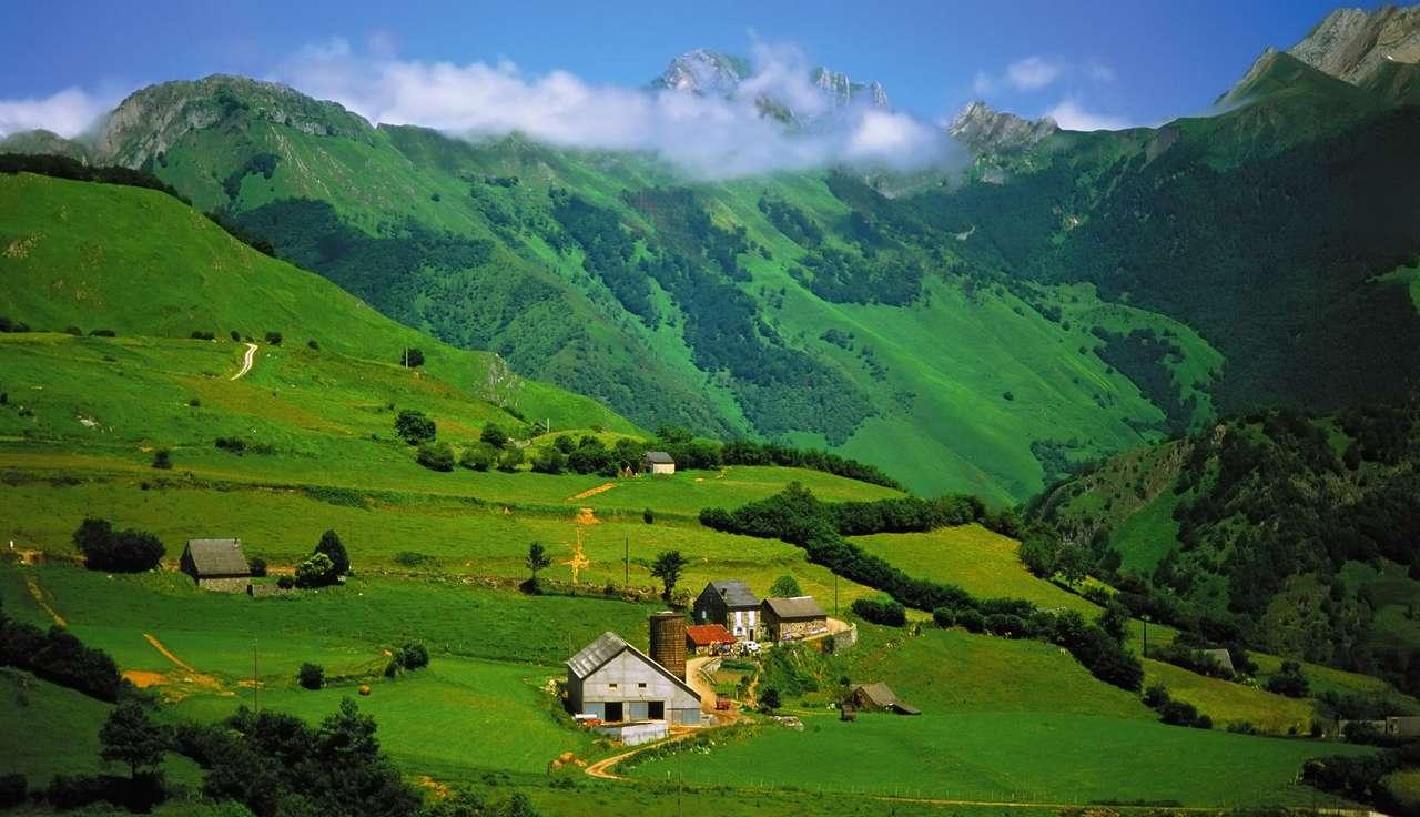 I Pirenei vicino a Lescun (Francia) puzzle da foto
