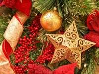 Estrela em uma árvore de natal