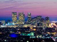 Los Angeles at dusk (USA)
