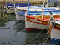 Boten in Sanary-sur-Mer (Frankrijk)