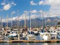 Boote im Hafen von Knysna (Südafrika)