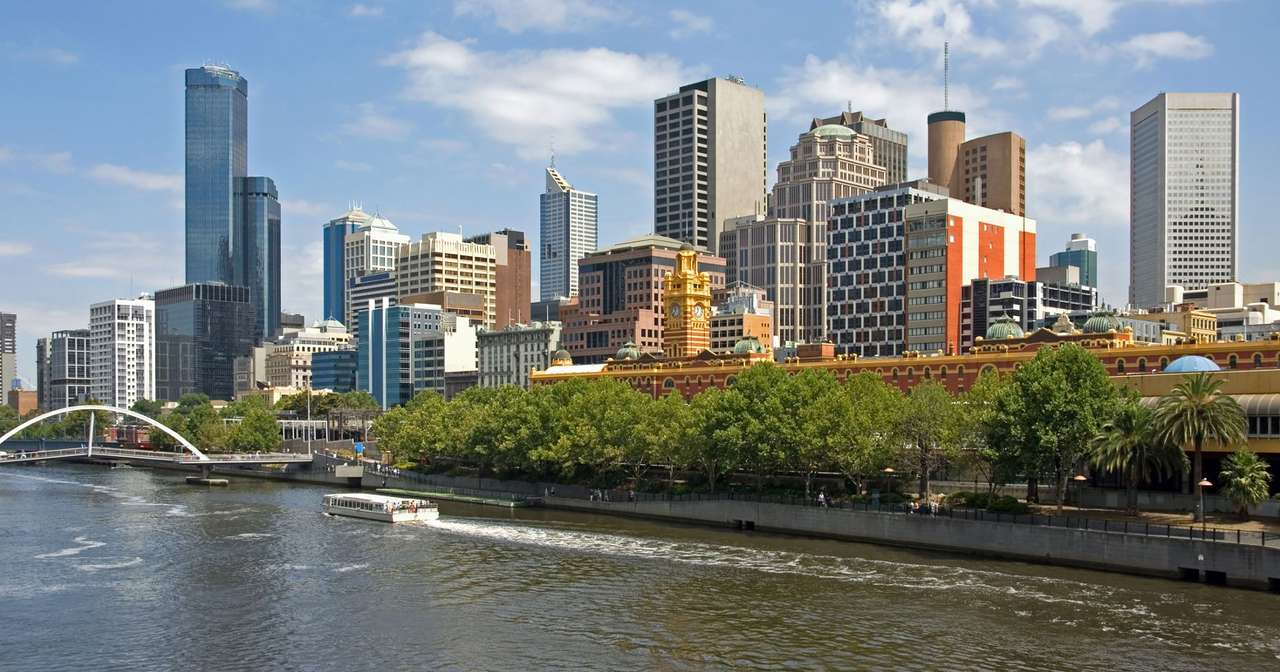 View of Melbourne from the Yarra River (Australia)