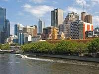 Άποψη της Μελβούρνης από τον ποταμό Yarra (Αυστραλία)