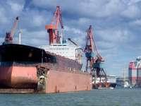 Tanker in a dry dock