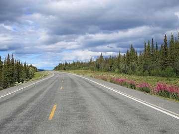 Pan-American Motorway in Alaska (USA)