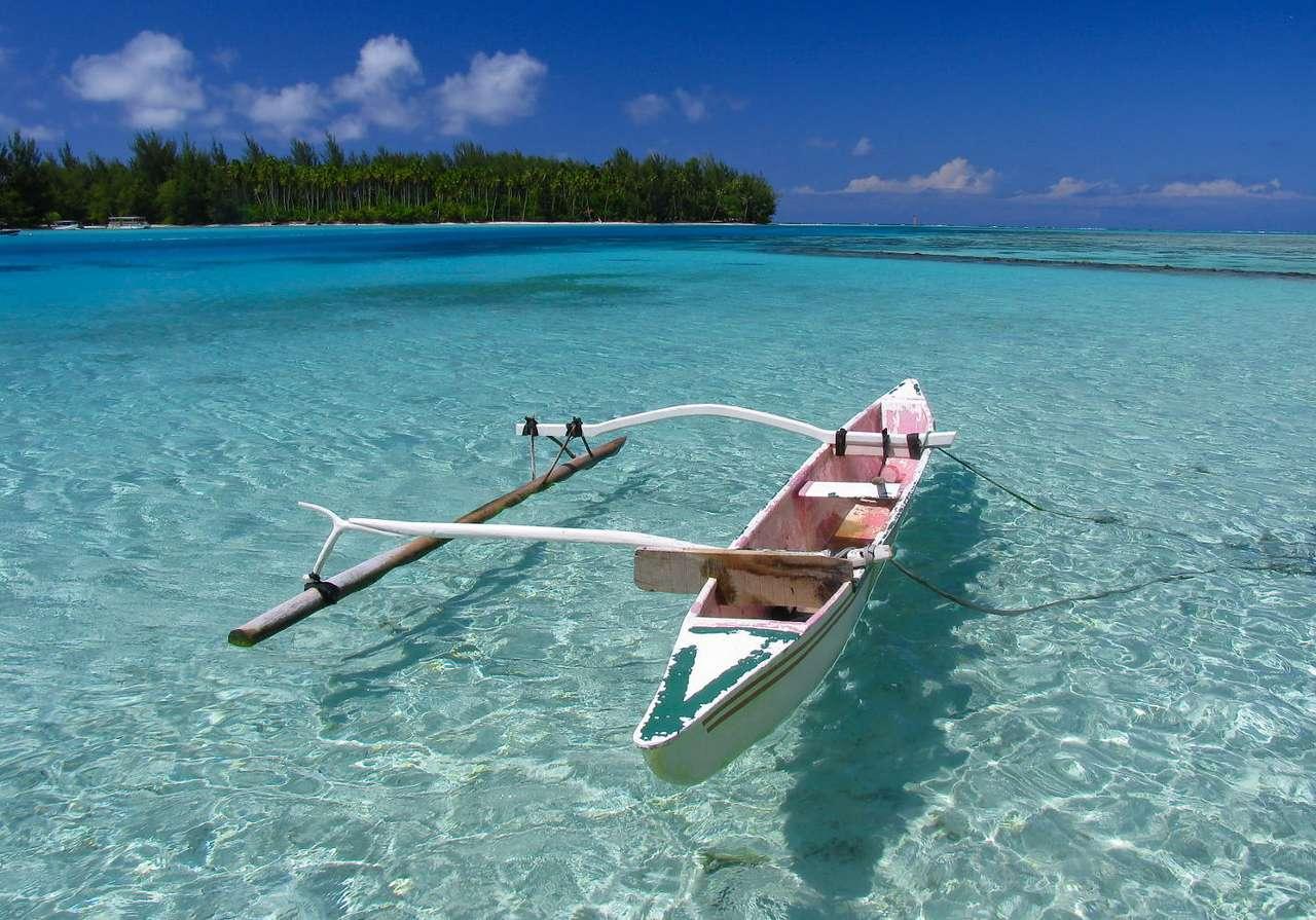 Barco de pesca polinesio