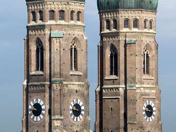 Towers of cathedral in Munich (Germany)