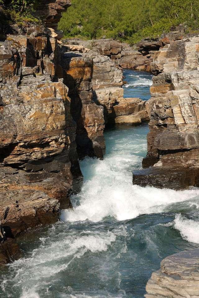 Canyon in Abisko National Park (Sweden)