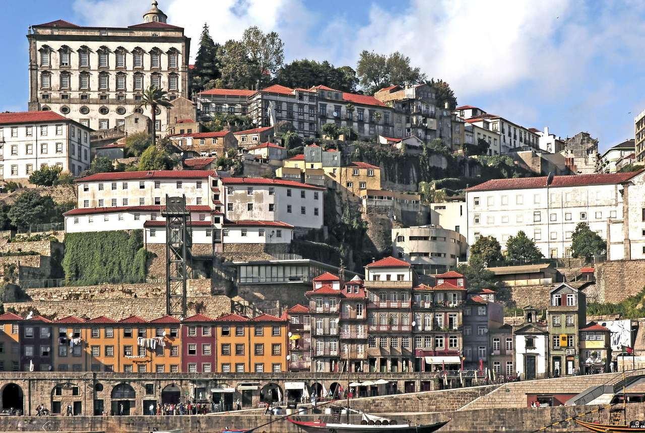 Old town in Porto (Portugal) - Porto is the second largest city in Portugal, located at the mouth of the Douro River in the northern part of the country. The old town, located on the Ribeira pier, is the most important part of Port (17×11)