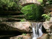 Waterfall in the Hocking Hills State Park (USA)