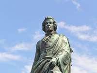 Mozart Statue in Salzburg (Austria)