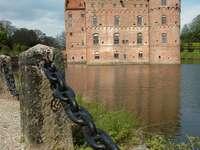 Panorama of Egeskov Castle (Denmark)