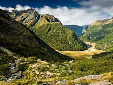 Landscape of South Island (New Zealand)
