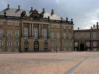 Château d'Amalienborg à Copenhague (Danemark)