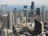 Panorama of Seattle downtown (USA)