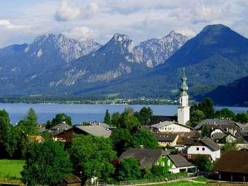 Panorama of Sankt Gilgen (Austria)